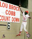 Lou Brock 20 of the St. Louis Cardinals Photo