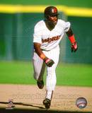 Tony Gwynn  19 of the San Diego Padres runing at Jack Murphy Stadium. Circa 1989. Photo