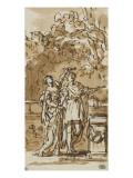 Une femme couronnant un guerrier Giclée-Druck von Joseph Marie Vien