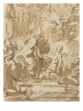 Abjuration d'Henri IV le 25 juillet 1593 Lámina giclée por Pier Francesco Mola