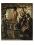 Un Maréchal dans sa forge Giclee Print by Louis Le Nain