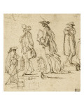 Album Dummy: Eight Studies of Men, of Different Sizes Giclee Print by Augustin De Saint-aubin