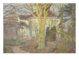 """""""Rayon de soleil"""" ou"""" Zonneschijn"""", maison de l'artiste à Astène Giclee Print by Emile Claus"""