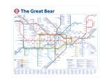 Den stora björnen, engelska Konst av Simon Patterson