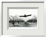 Untitled - Flying Plane Limited Edition Framed Print by B. A. King