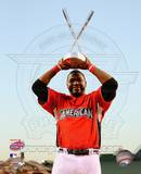 David Ortiz 2010 Home Run Derby Champion With Trophy Photo