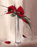 Les Fleurs Rouges II Art by Olivier Tramoni
