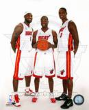 Dwyane Wade, LeBron James, &Chris Bosh 2010 Posed Foto