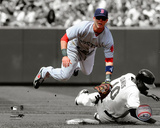 Dustin Pedroia 2010 Spotlight Action Photo