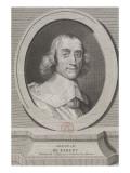 Abraham de Fabert, marquis d'Esternay, maréchal de France (1599-1662) Giclée-Druck von Nicolas Joseph Voyez