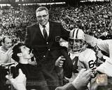 Vince Lombardi Being carried off the field after the Packers beat the Raiders in SuperBowl II Photo