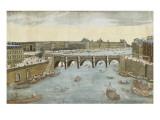 93ème vue du pont neuf, du côté du pont Saint-Michel à Paris Giclee Print