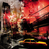 New York Firewoks Kunstdruck