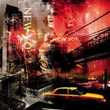 New York Firewoks Kunstdruck