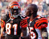 Terrell Owens &amp; Chad Ochocinco 2010 Action Photo