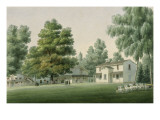&quot;Malmaison.View of the Cow in the Woods St.Cucufat &quot; Giclee Print by Auguste Garneray