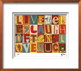 Live Well, Laugh Often Limited Edition Framed Print by M.J. Lew