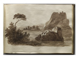 Album of Drawings Charlotte Napoleon Lake and Rocks Giclee Print