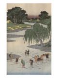 Album de la série des Cinquante-trois relais du Tôkaidô Giclee Print by Ando Hiroshige
