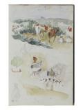 Album d'Afrique du Nord et d'Espagne Giclee Print by Eugene Delacroix