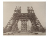 Album on the Work of Construction of the Eiffel Tower Giclee Print by Louis-Emile Durandelle