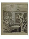 Convulsionnaires et miraculés de Saint-Médard : la demoiselle Coirin, guérison Giclee Print by Jean Restout