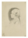 Album Dummy: Bust of a Young Boy, in Profile to Left Giclee Print by Augustin De Saint-aubin