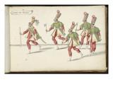 """Album ; Ballet de la Douairière de Billebahaut ; """" Entrée des Piclairs """"; cinq figures Giclee Print by Daniel Rabel"""