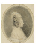 Album Dummy: Portrait of Woman in Profile in an Oval Giclee Print by Augustin De Saint-aubin