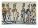 Comparative Table of the Main European Military Corps Giclee Print