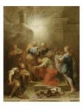 Ananie imposant les mains à Saint Paul Giclee Print by Jean Restout