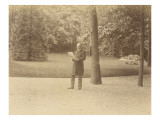 Albert Henocque Standing Near a Tree in Front Lawn Giclee Print by Alexandre-Gustave Eiffel