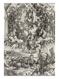 Apocalypse of Saint John - St. John Called to Heaven Giclee Print by Albrecht Dürer