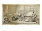 Album factice  : Atelier de broderie Reproduction procédé giclée par Augustin De Saint-aubin
