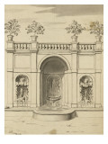 Album Dummy Fountain Garden and Belvedere in Frascati Giclee Print by Augustin De Saint-aubin