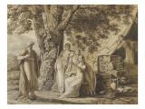 Abraham et les trois anges Lámina giclée por Louis Gauffier