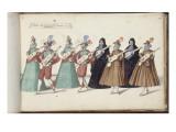 """Album ; Ballet des Fées de la forêt de Saint Germain ; """"Entrée des Espagnols""""; huit figures Giclee Print by Daniel Rabel"""