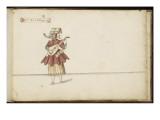 """Album ; Ballet des Fées des Forêts de Saint Germain ; """"Récit de la musique""""; femme jouant du luth Giclee Print by Daniel Rabel"""
