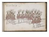 """Album ; Ballet des Fées de la forêt de Saint Germain ; """"Le Grand ballet"""" ; seize figures d'hommes Giclee Print by Daniel Rabel"""