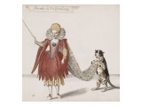 """Album;Ballet des Fées de la forêt de Saint Germain ; """"Perrette la Hazardeuse"""" et un chat Giclee Print by Daniel Rabel"""