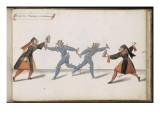 """Album ; Ballet du Chasteau de Bicêtre ; """" Entrée des Sorcières et des monstres""""; quatre figures Giclee Print by Daniel Rabel"""