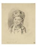 Album factice : Buste de jeune garçon, coiffé d'un bonnet Reproduction procédé giclée par Augustin De Saint-aubin