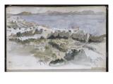 Album d'Afrique du Nord et d'Espagne : vue de Tanger Giclee Print by Eugene Delacroix
