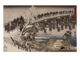 Acte XI : attaque nocturne, 1 : l'avancée Giclee Print by Ando Hiroshige
