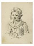 Album factice : Fillette en buste, de face avec bonnet Reproduction procédé giclée par Augustin De Saint-aubin