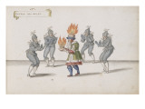 """Album ; Ballet de la Douairière de Billebahaut ; """"Entrée des Gelés"""" ; cinq figures Giclee Print by Daniel Rabel"""