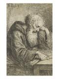 Un moine en mtation Lámina giclée por Ferdinand Bol