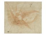 Ange volant, vu de face, les bras ouverts Giclée-tryk af Domenico Beccafumi