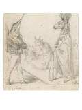 Alphabet: Animal Representation: Xyphias, Yak, Zebra Giclee Print