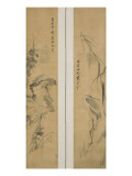 """Duck, Heron, the Four Gentlemen, the Three Friends"" Giclee Print by Ki-hun Yang"